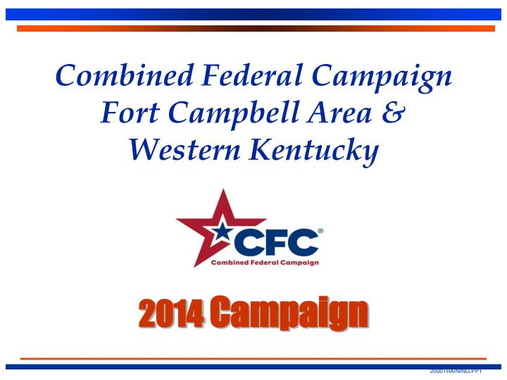 Combined federal campaign fort campbell area western kentucky 2014 campaign
