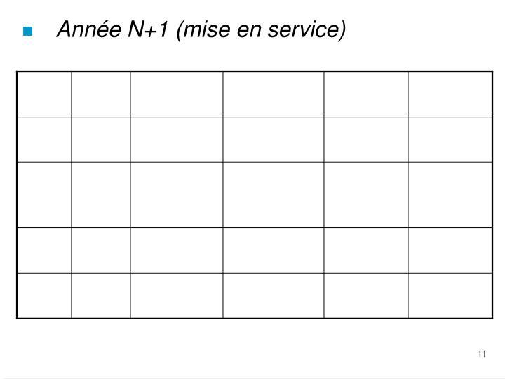Année N+1 (mise en service)