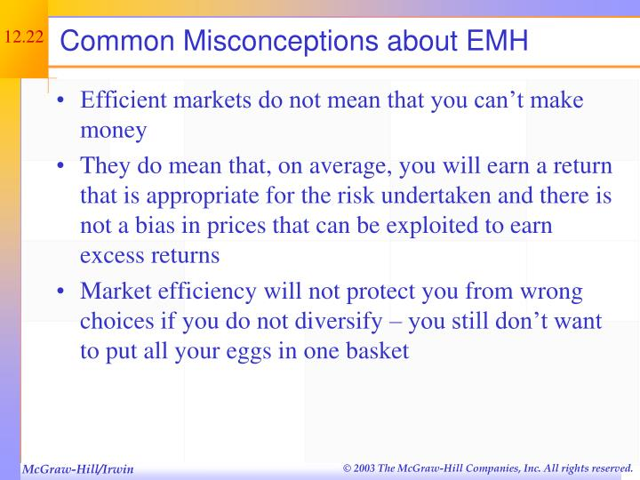 Common Misconceptions about EMH