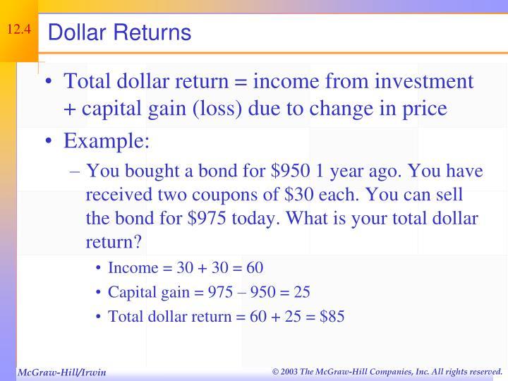 Dollar Returns