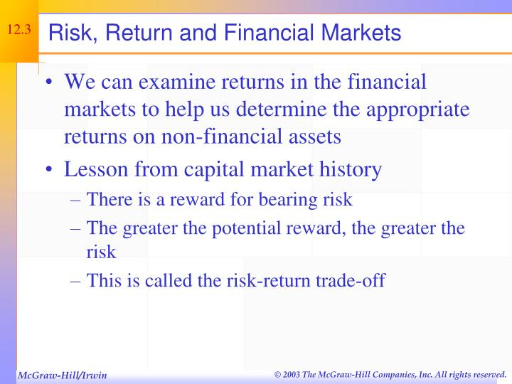 Risk, Return and Financial Markets