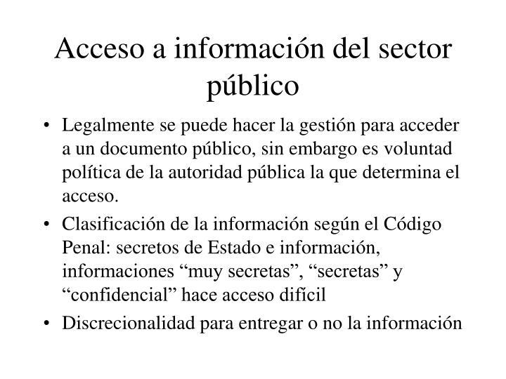 Acceso a información del sector público