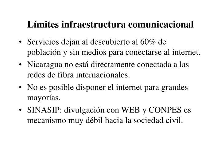 Límites infraestructura comunicacional