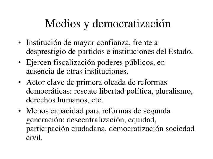 Medios y democratización