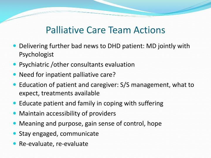 Palliative Care Team Actions