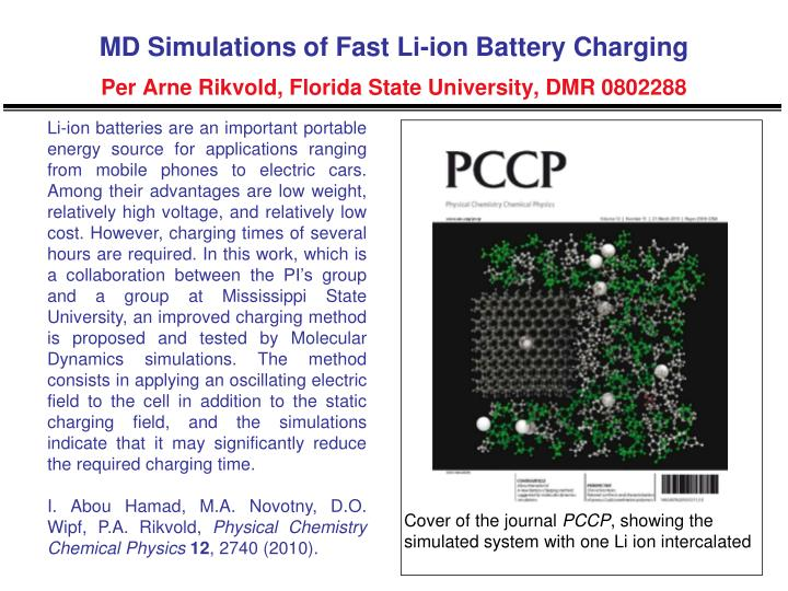 MD Simulations of Fast Li-ion Battery Charging