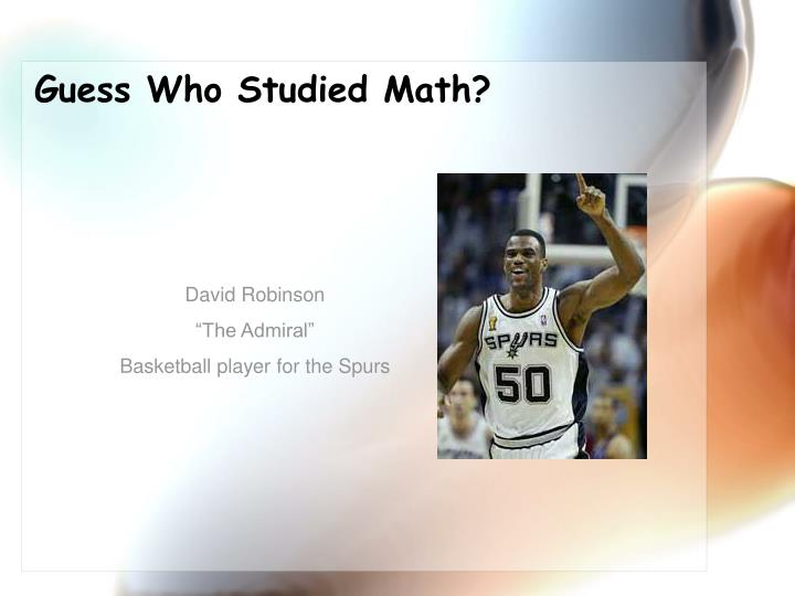 Guess Who Studied Math?