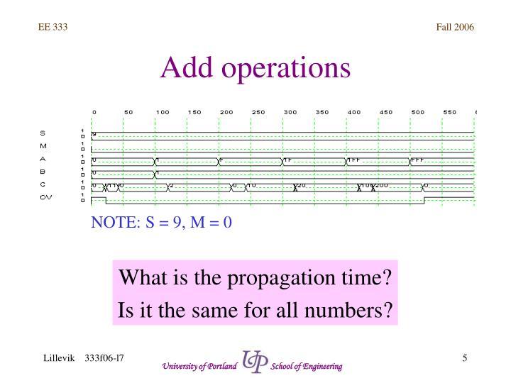 Add operations