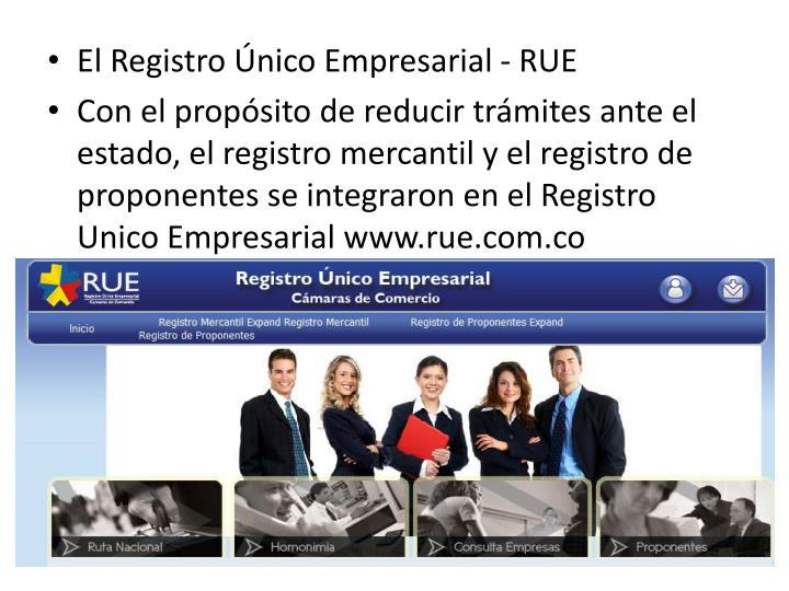 El Registro Único Empresarial - RUE