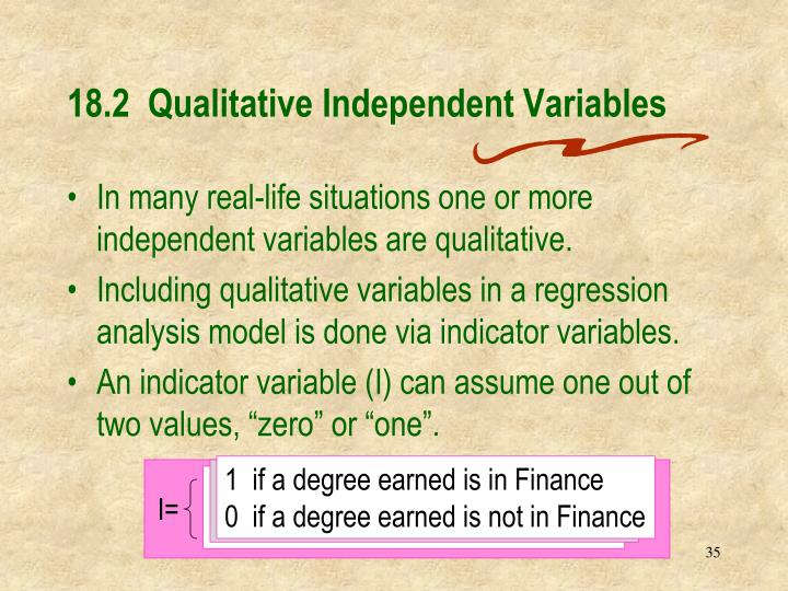 18.2  Qualitative Independent Variables
