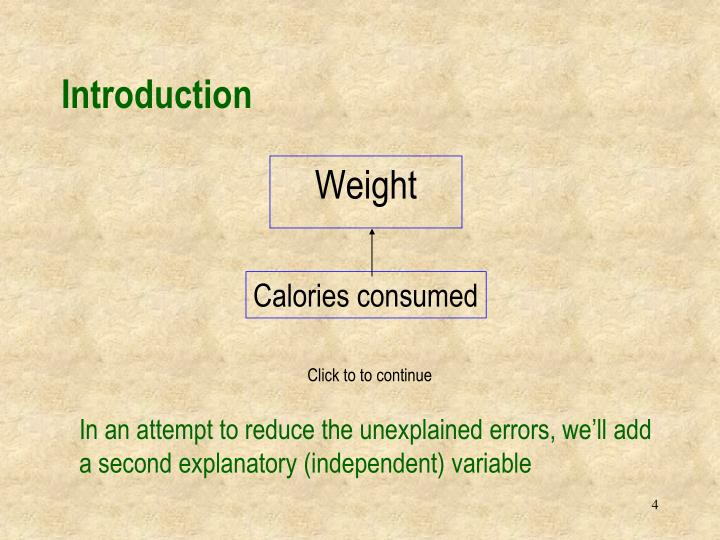 Calories consumed