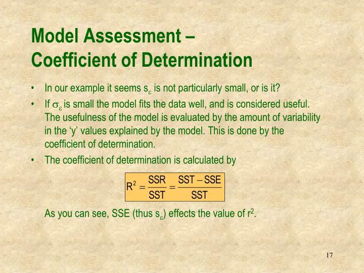 Model Assessment –
