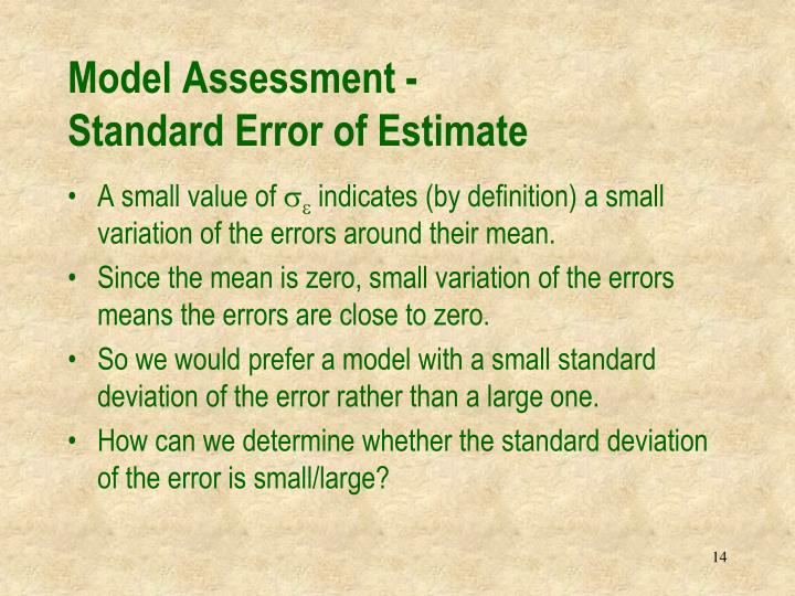 Model Assessment -