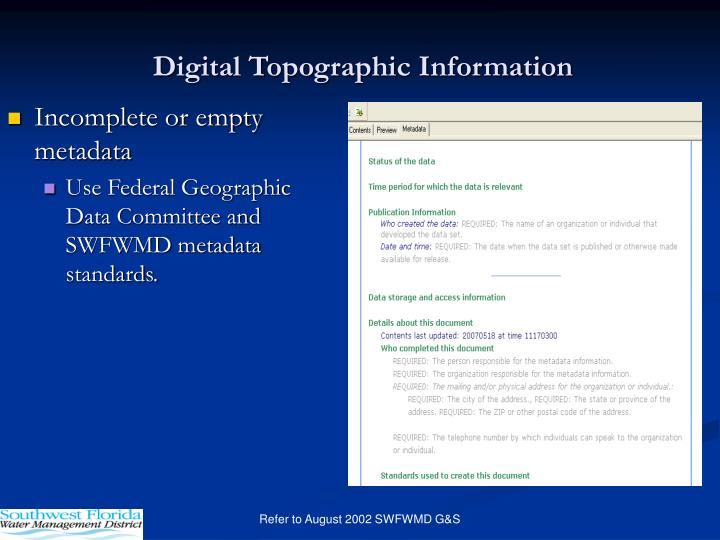Digital Topographic Information
