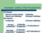 example collins title productivity3