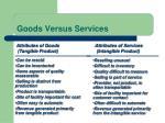 goods versus services
