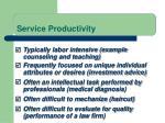 service productivity