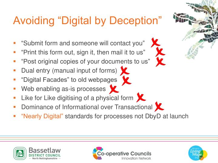 "Avoiding ""Digital by Deception"""