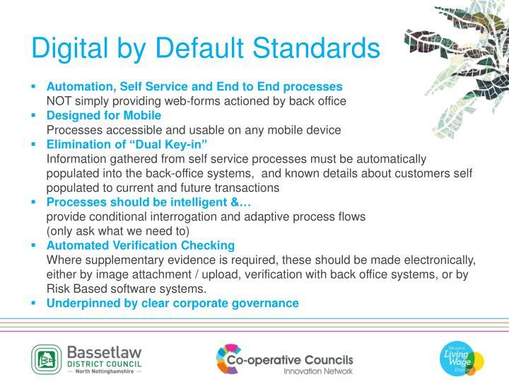 Digital by Default Standards