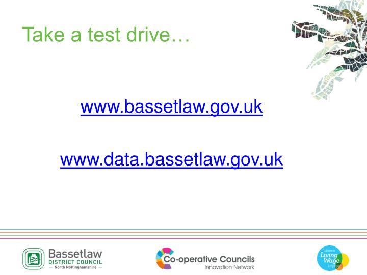 Take a test drive…