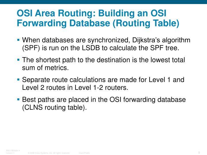 OSI Area Routing
