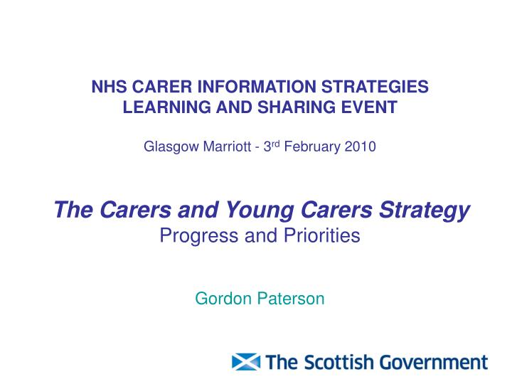 NHS CARER INFORMATION STRATEGIES