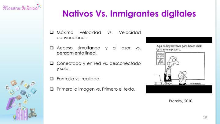 Nativos Vs. Inmigrantes digitales