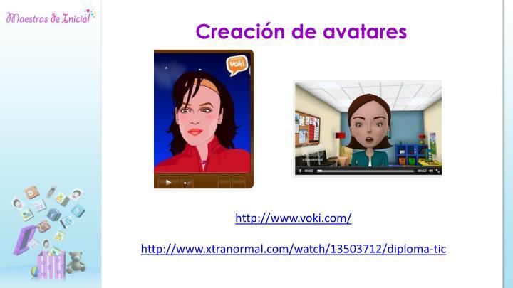 Creación de avatares