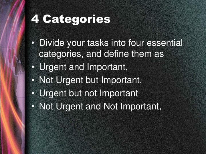 4 Categories