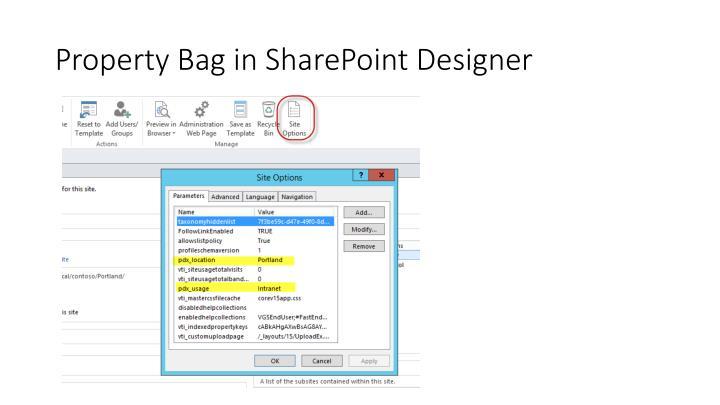 Property Bag in SharePoint Designer
