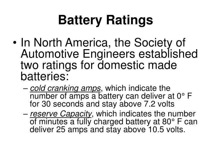 Battery Ratings