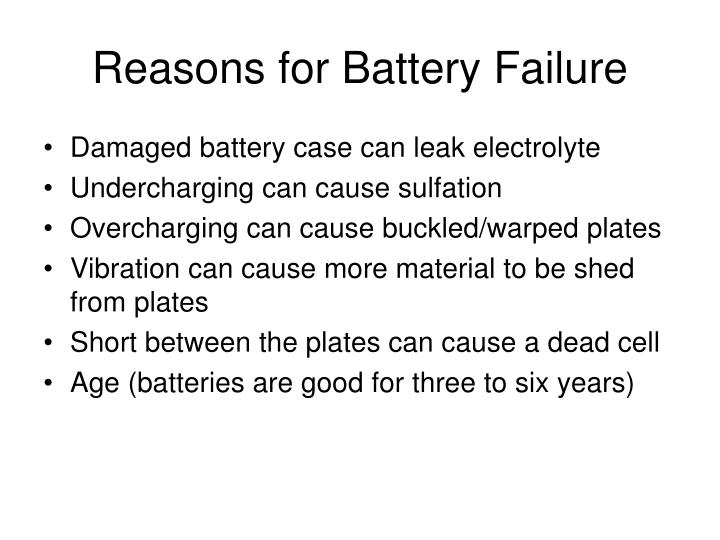 Reasons for Battery Failure