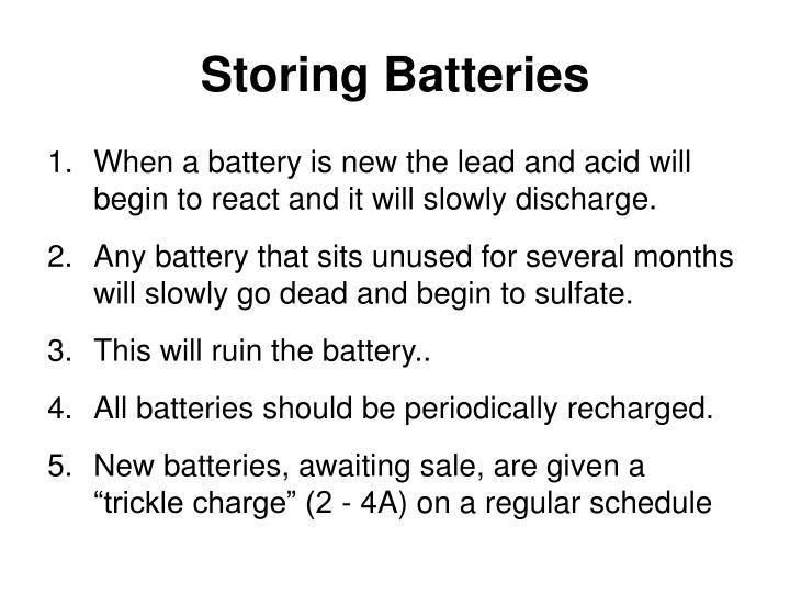 Storing Batteries