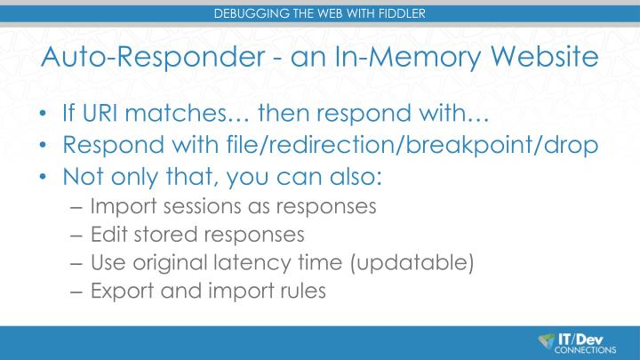 Auto-Responder - an In-Memory Website