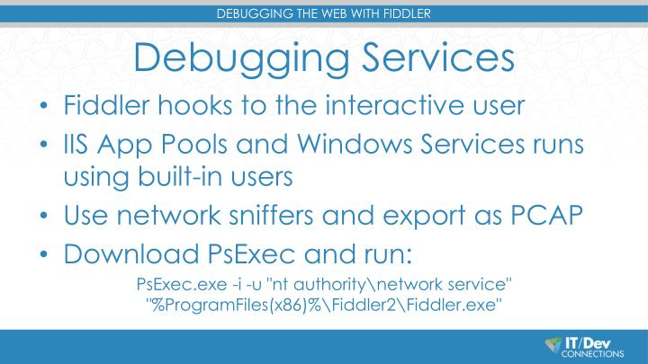 Debugging Services