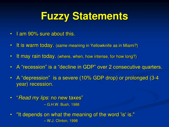 Fuzzy Statements
