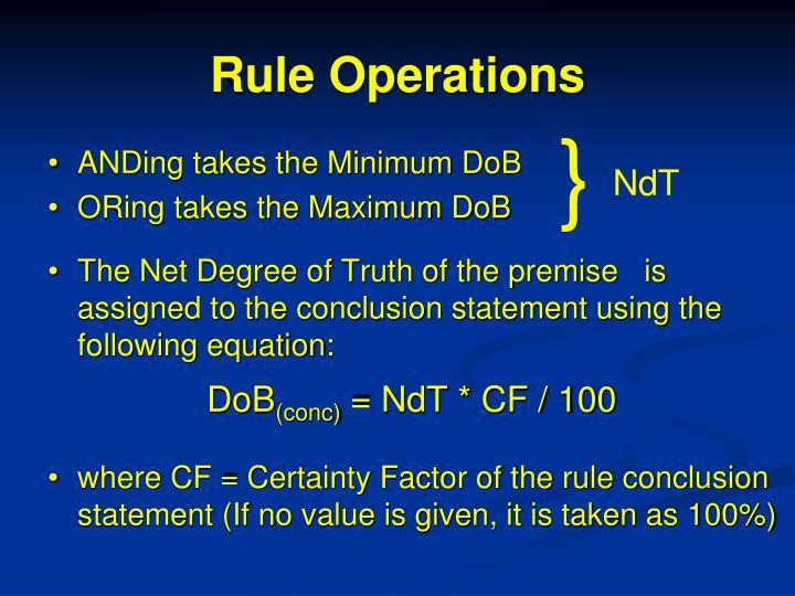 Rule Operations