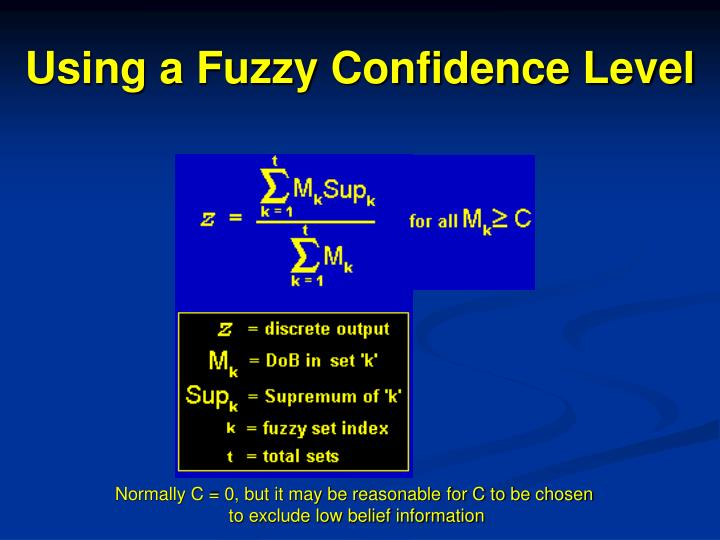 Using a Fuzzy Confidence Level