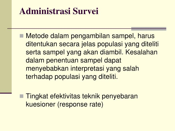Administrasi Survei