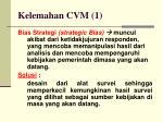kelemahan cvm 1