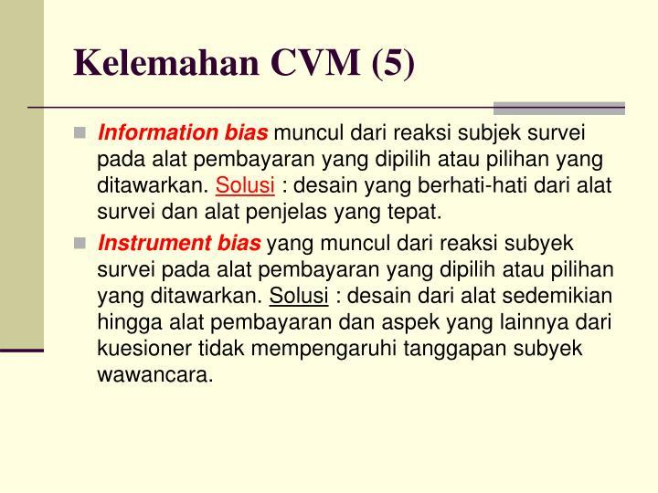 Kelemahan CVM