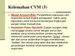 kelemahan cvm 51