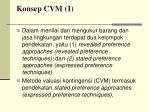 konsep cvm 1