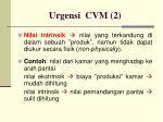 urgensi cvm 2