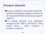 primarni elementi