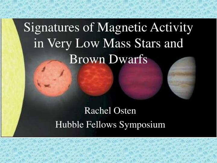 Signatures of magnetic activity in very low mass stars and brown dwarfs