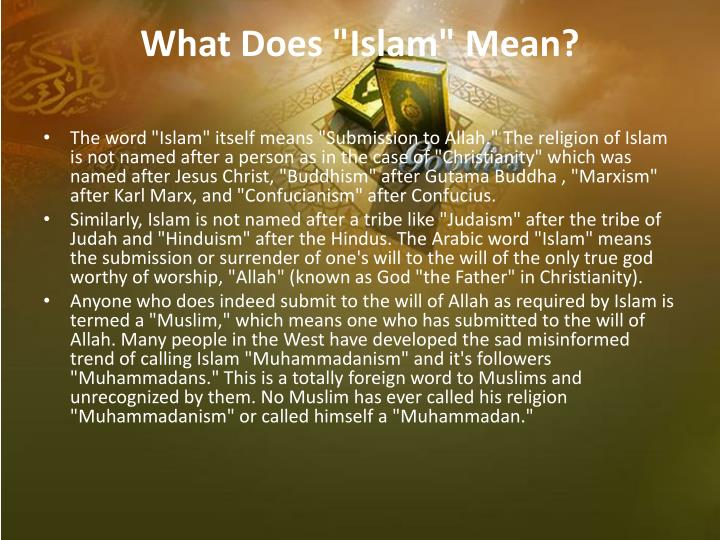 "What Does ""Islam"" Mean?"