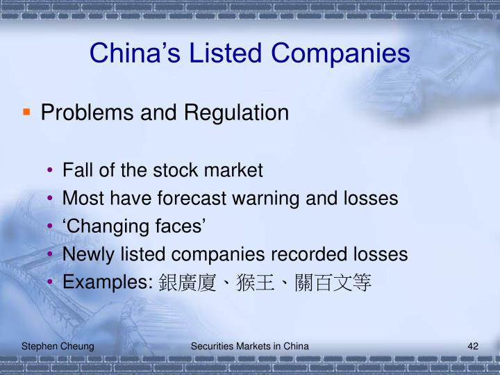 China's Listed Companies