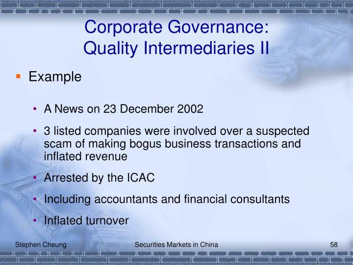 Corporate Governance: