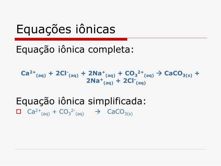 Equações iônicas